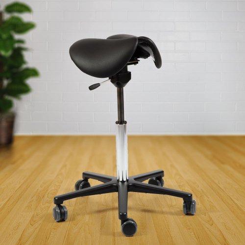Aktiivinen satulatuoli keinuva Ergonea Pilates Dual nahka hinta tarjous toimistoon, Pilate on keinuva satulatuoli hinta tarjouksessa paras aktiivinen ergonomia satulatuoliin, kaksiosainen Pilates Dual hyvä ergonomia alaselälle ja ergonominen satulatuoli
