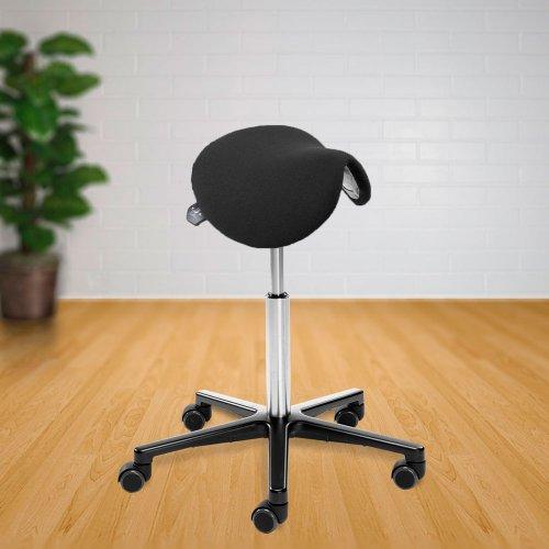 Satulatuoli Ergonea Basic naiselle kangas hyvä ergonominen kapea kotimainen satulatuoli pyörillä ammattikäyttöön