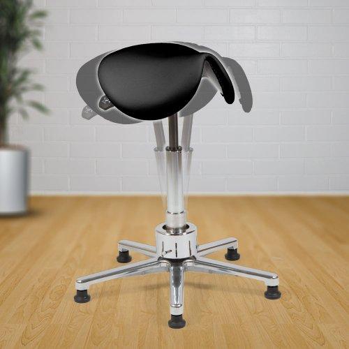 Satulatuoli hinta tarjouksessa Ergonea Luxe Move nahka kotiin tai toimistoon, edullinen ja ergonominen kotimainen, paras laatu toimistoon satulatuolit naisille valkoinen ja musta, kotimaisia satulatuoleja edulliseen hintaan nahkaa aktiivinen jumppaava