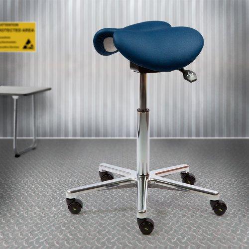 ESD satulatuoli miehille kaksiosainen Ergonea Dual, hyvä kotimainen kaksiosainen satulatuoli miehelle, edullinen tarjous hinta harmaa sininen ja musta, satulatuoli esd miehille on kotimainen kaksiosainen esd tuoli satulatuolit miesten malli