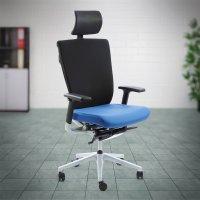 Työtuoli Ergonea Fabric musta hyvä ergonominen työtuoli keinulla kotiin tai toimistoon
